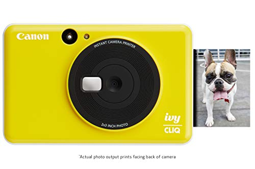 "Canon Ivy CLIQ Instant Camera Printer, Mini Photo Printer with 2""X3"" Sticky-Back Photo Paper(10 Sheets), Bumblebee Yellow from Canon"