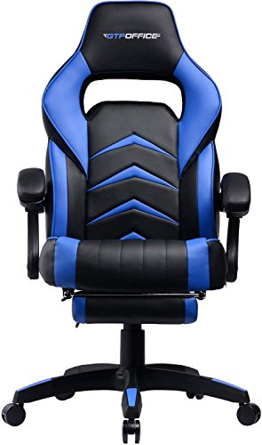Gaming Chair Racing Style Reclining Office Computer Desk
