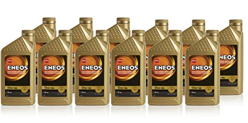 Eneos 0W-16 Fully Synthetic Motor Oil, 1 Quart (Pack of 12)