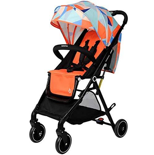 ベビーカーのベビーカーのファッションデザインマルチファンクションポケットの広々としたオープンデザインと防水布,Orange   B07GX8B661