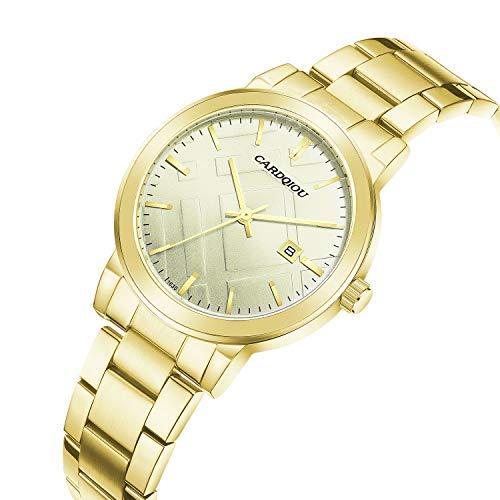 Cardqiou Women Watch, Stainless Steel Watch, Waterproof Quartz Dress Wristwatch by Cardqiou (Image #2)