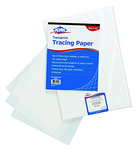 Alvin Tracing Paper 100-Sheet Pad 24'' x 36'' (6811-S-10) by Alvin