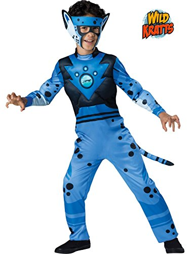 Quality Wild Kratts Child Costume Blue Cheetah - X-Small (Wild Kratts Creature Power Suit Costumes)