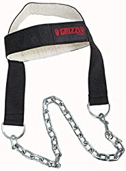 Grizzly Fitness Premium Nylon Head Harness for Weight Training by Men and Women | One-Size Fully Adjustable |