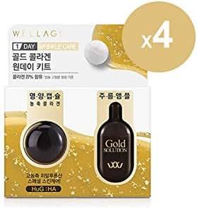 WELLAGE Real Collagen Bio Capsule & Gold Solution 1Daykit (4EA) KOREA Beauty