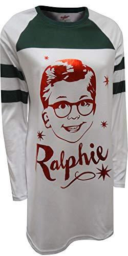 Christmas Story Women's Ralphie Nightgown, White M -