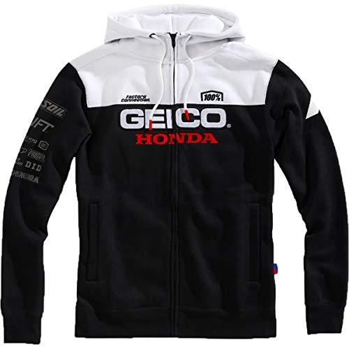 Hoody Sweatshirt Honda (100% Geico Honda Tailhook Hooded Sweatshirt-M)