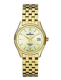 Grovana Women's 5568-1111 Traditional Analog Display Swiss Quartz Gold Watch