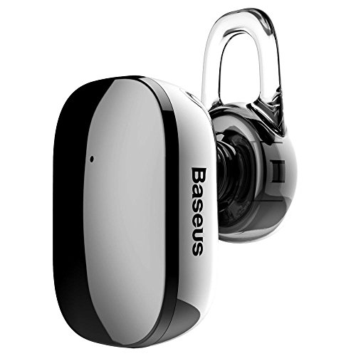 Bluetooth Headphones, BASEUS Lightweight V4.1 Mini Wireless Bluetooth Headset Headphone Earphone with Mic for iPhone and Android Smart Phones with Removable Ear-hook (Black)