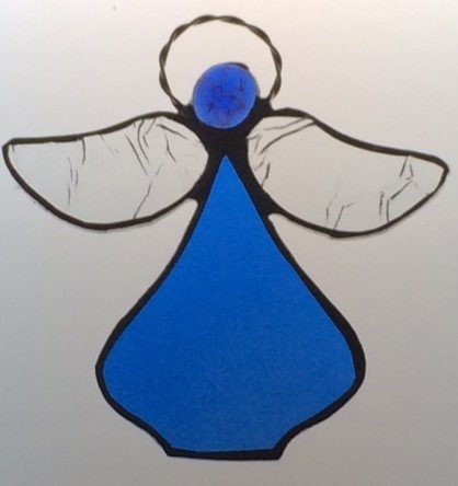 Handcrafted (Royal Blue) Angel Sun Catcher Stained Glass Ornament by Artic Fox, LLC