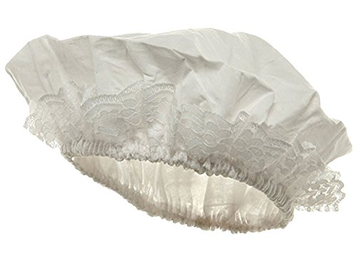 Sexy Victorian Burlesque White Colonial Maid Mob Bonnet Cap -