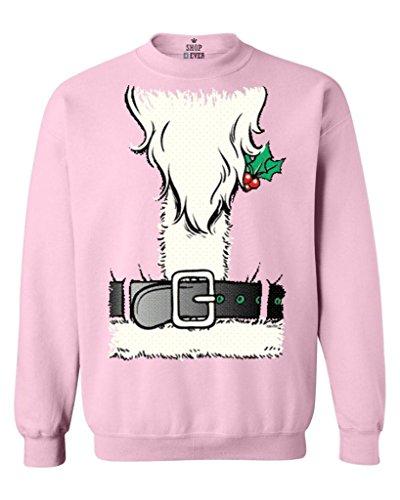 [Shop4Ever Christmas Santa Costume Crewnecks Xmas Sweatshirts XXX-LargeLight Pink12259] (A Christmas Carol Costume Design)
