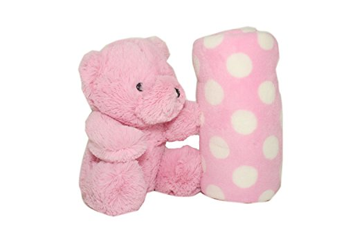 International Silver Spring Charm - SILVER ONE Plush Stuffed Animal Teddy Bear and Blanket 2 Peice Gift Set for Kids/Children | 40