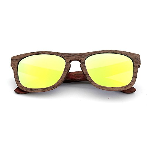 Wood Handcraft Protección Style Sunglasses Moda Classic Lente Proteccion Rimmed color Oro Simple Azul Gu De Tonos adulto Para Unisex Peggy Color Uv400 Ojos vY0WOAq8w