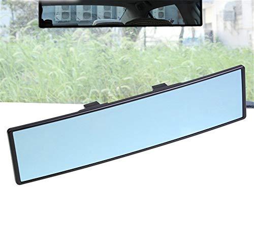 Milopon Espejo retrovisor panoramico para coche, espejo interior universal, espejo interior para coche, camion, antirreflejos, ajuste de angulo