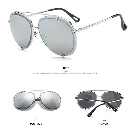 Playa Gafas Silver La Gafas Sol Libre De De Moda Los Protección Aire De De del Recorrido Sol Al De De Sol De Ultravioleta Y La Gafas La Hombres t7qSxapww