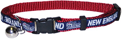Pets First NFL CAT COLLAR. - NEW ENGLAND PATRIOTS CAT COLLAR. - Strong & Adjustable FOOTBALL Cat Collars with Metal Jingle Bell by Pets First