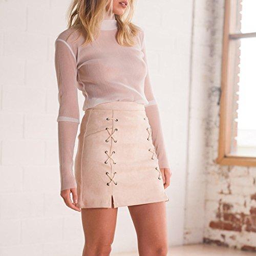 la portefeuille courte mini party lacets jupe empire crayon des sude femmes taille abricot sexy fendu CqyfzKwwU