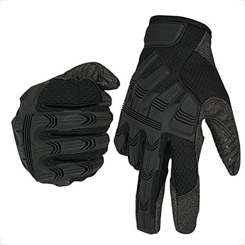 Touchscreen Motorradhandschuhe Vollfinger Handschuhe für Motorrad Radfahren ATV Fahrrad Camping Klettern Wandern Arbeit…