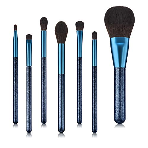 Adpartner 7PCS Wooden Handle Makeup Brushes Set, Professional Face Eye Shadow Eyeliner Foundation Blush Lip Makeup Brush, Generic for Powder Liquid Cream Cosmetics