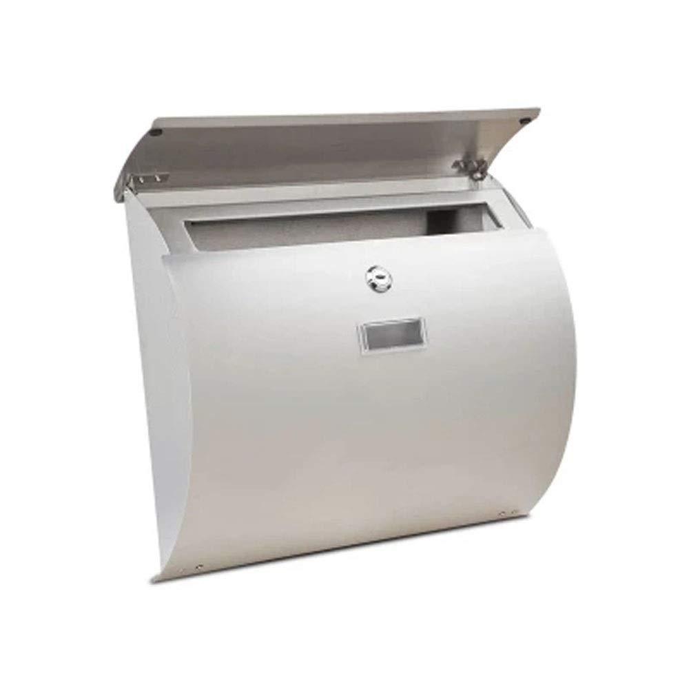 ZXPzZ Eメール屋外の別荘の郵便箱のヨーロッパ式の防水耐雨性のステンレス鋼のレターボックス -メール収集   B07QBGFDB9