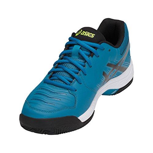 Clay 6 blanc noir Zapatillas foncé Game para de Tenis Gel turquoise Asics Hombre R67qnw46