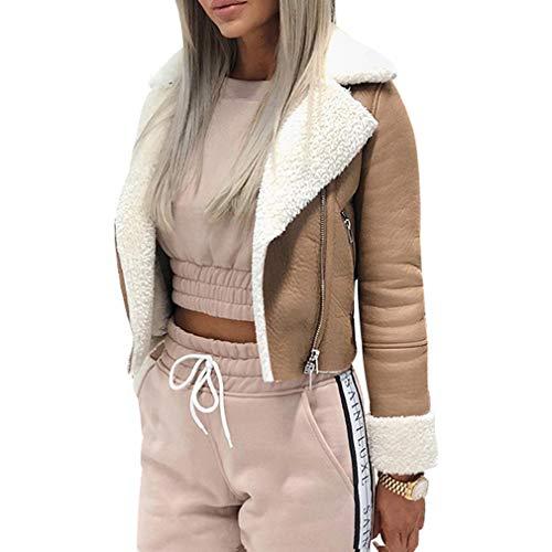 Khaki Revers Grande Avec Zipper Manteau Court Paragraphe Femme Taille Yunhou Manteau zUAqFxPn6