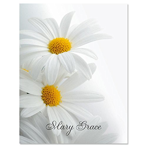Daisy Pen (White Marguerite Personalized Note Cards (Set of 12 Cards with White Envelopes))