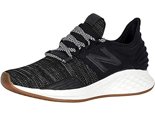 New Balance Women's Roav V1 Fresh Foam Running Shoe, BLACK/SEA SALT, 10 M US