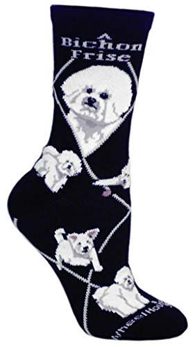 Bichon Frise Cotton Puppy Dog Breed Animal Socks 9-11