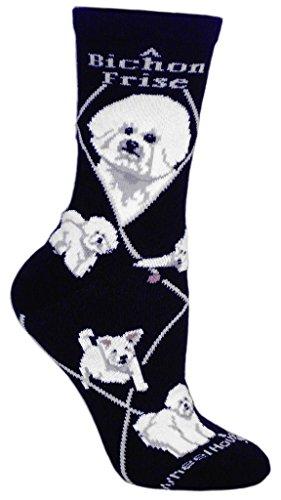 Bichon Frise Cotton Puppy Dog Breed Animal Socks 9-11