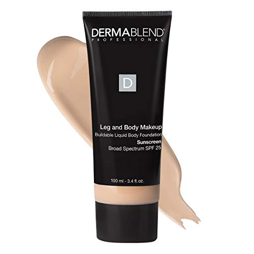 Dermablend Leg and Body Makeup, with SPF 25. Skin Perfecting Body Foundation for Flawless Legs with a Smooth, Even Tone…