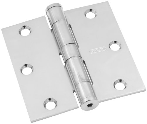 Stanley Hardware S821-041 191 Standard Weight, Non-Ferrous Hinges - Solid Brass in Chrome, 3-1/2