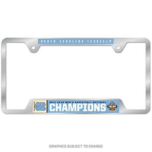WinCraft North Carolina Tar Heels Official NCAA Championship Basketball Champs 2017 License Plate Frame Metal by 373281 by WinCraft