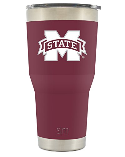 Simple Modern Mississippi State University 30oz Cruiser Tumbler - Vacuum Insulated Stainless Steel Travel Mug - MSU Bulldogs Tailgating Hydro Cup College Flask - Mississippi State Msu Bulldogs