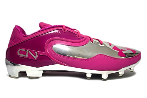 Under Armour Team Cam Low MC Football Cleats (14, True Pink/Metallic Silver)