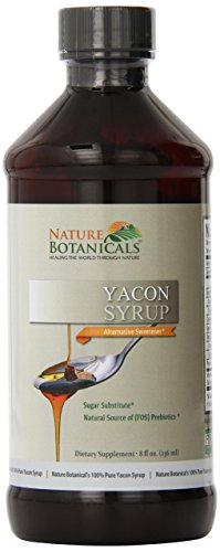 Nature Botanical Farms 100% Pure Yacon Syrup, All Natural Sugar Substitute, Metabolism Booster, 8 oz (Botanicals Sugar)