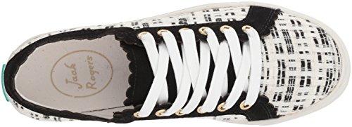 Jack Rogers Womens Teagan Sneaker Nero / Bianco Boucle Nero