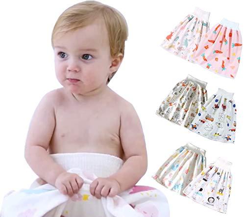 2 Stks Baby Katoen Luierrok Absorberende Shorts Waterdichte Peuter Training Broek Herbruikbare Kids Luierbroek Wasbare…
