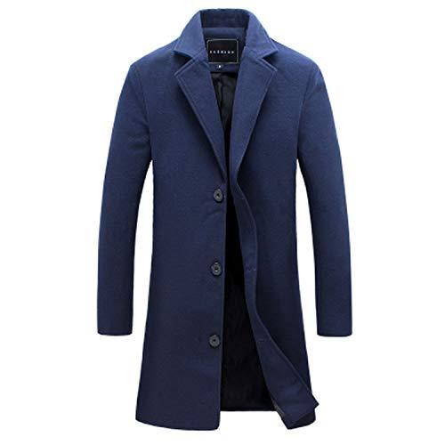 Colorful Dream- New Men Wool Suit Wool Coat Men Casual Trench Coat Design Slim Fit Office Suit -