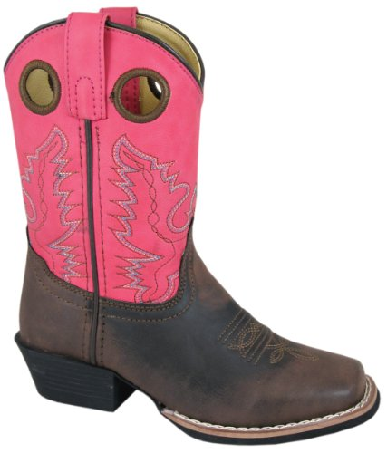 Smoky Mountain Childs Memphis Sq Toe Boot Brown/Pink -