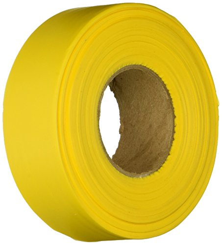 Keson FTY Ribbon Marker Flagging Tape, 1-3/16-Inch by 300-Foot, Yellow (300' Flagging Tapes)