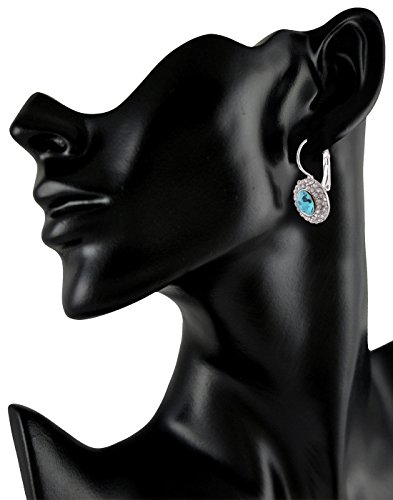 Fasherati Blue Crystal Hoop Earrings For Girls