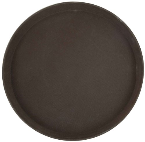 - Winco Round Fiberglass Tray with Non-Slip Surface, 14-Inch, Brown