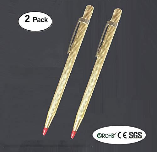 Pro-Aids Carbide Tip Scriber Tool,Set of 2Pcs,Tungsten Scribe for Metal/Glass/Ceramics/Gold,Engraver Pen - Aid Metal