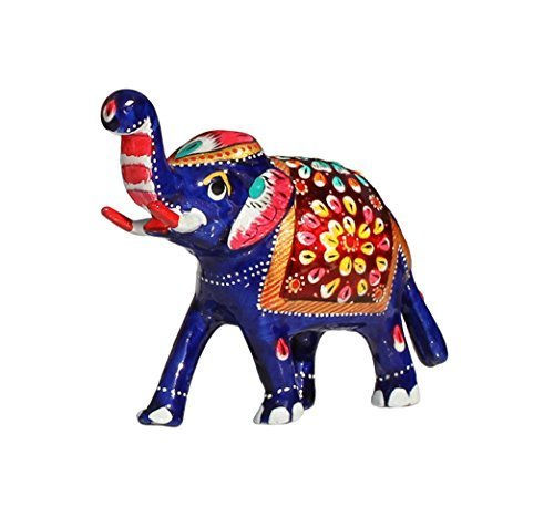 SouvNear SG-JPR-028 Trunk Up Elephant Sculpture, 4.2 inches, Multicolored from SouvNear