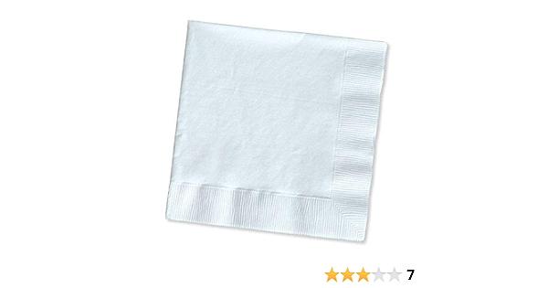 Amazon Com Luncheon Napkins 6 5 X6 5 Folded Size 50 Pkg White Toys Games
