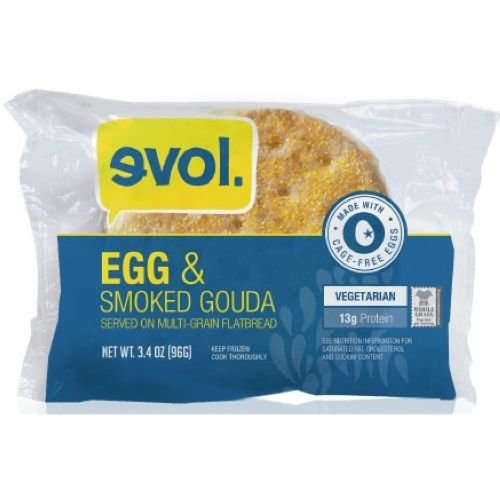 Evol Foods Egg and Smoked Gouda Breakfast Sandwich, 3.4 Ounce -- 18 per case.