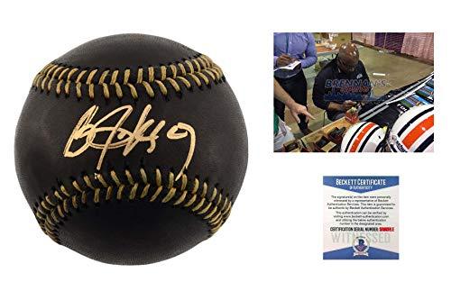 Bo Jackson Autographed Signed Black Baseball - Beckett Authentic