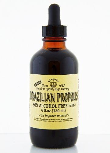 Stakich BRAZILIAN PROPOLIS 4 oz Liquid Extract, Alcohol Free 30% - Top Quality